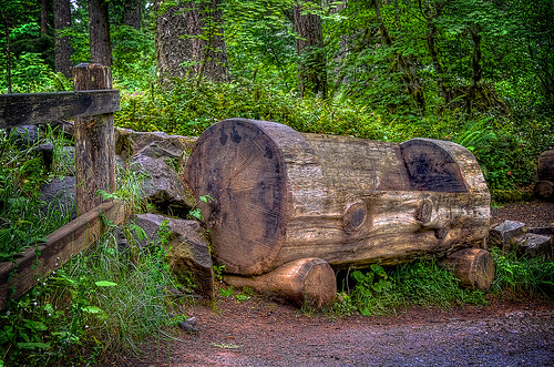 Learn How To Build A Log Bench Like This One By Reading This Book. (Photo  By Photo Atelier)